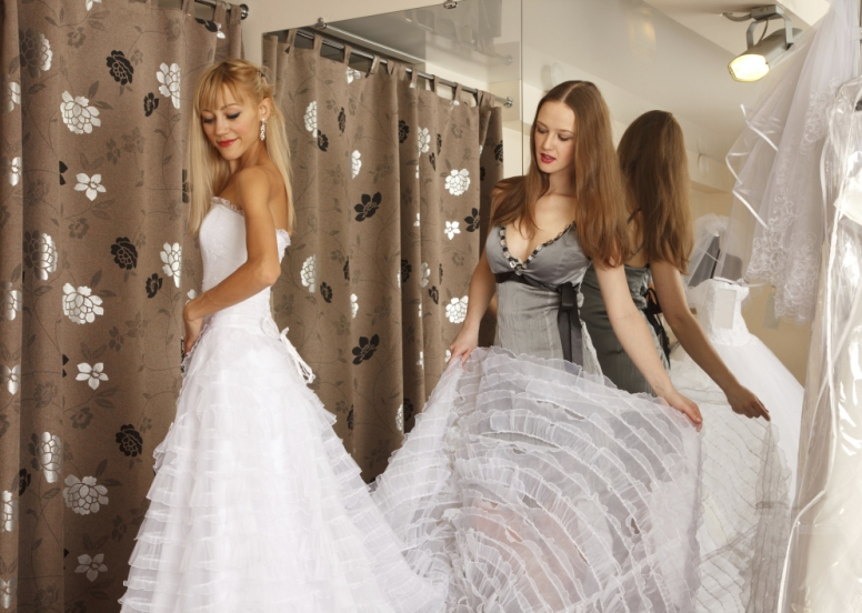 Final fittings for wedding dress
