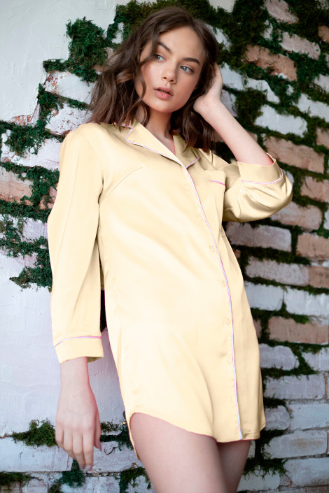 Nightdress Ariel pastel yellow