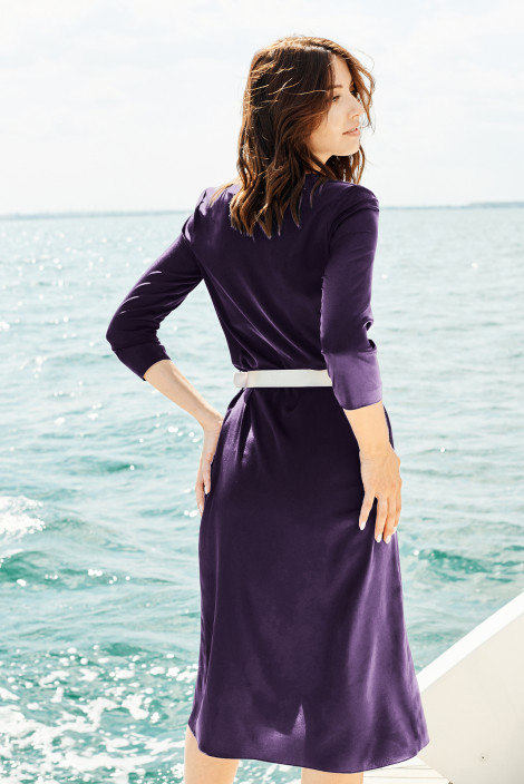 Dress Chelsea silk Violet indigo