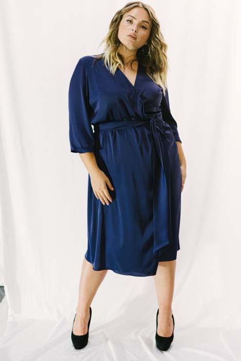 Dress Chelsea silk plus size deep violet