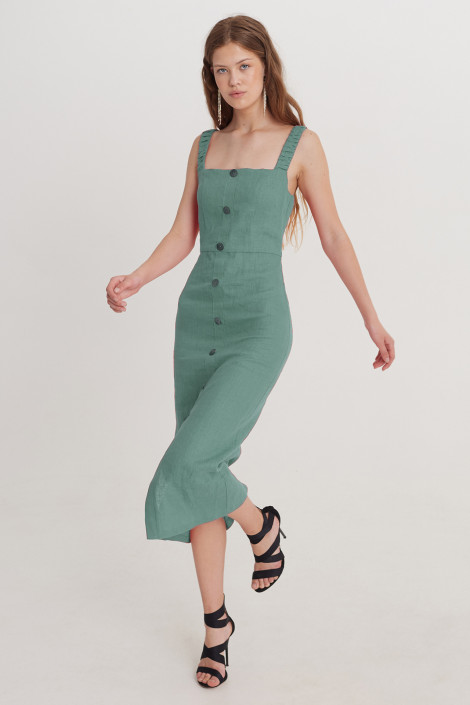 Dress Ruby linen sea green