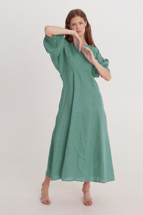 Dress Vita linen sea green