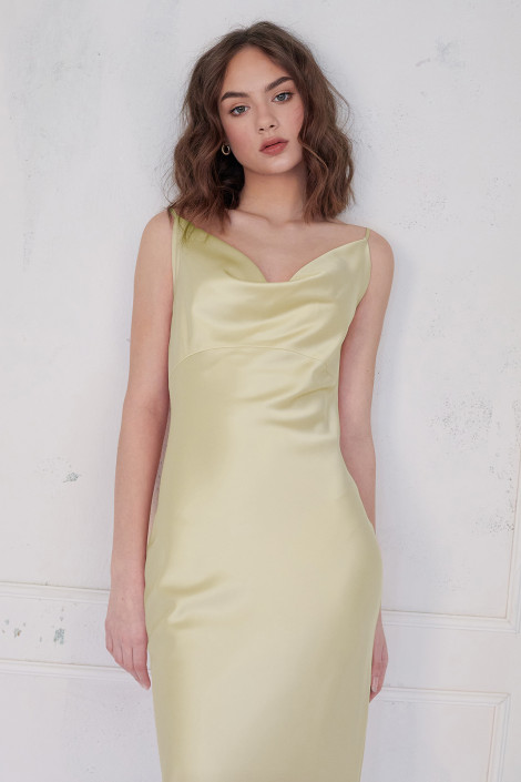 Robe Faith Jaune Pastel