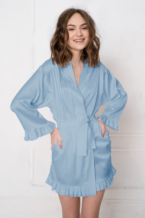 Dressing gown Grace blue bell