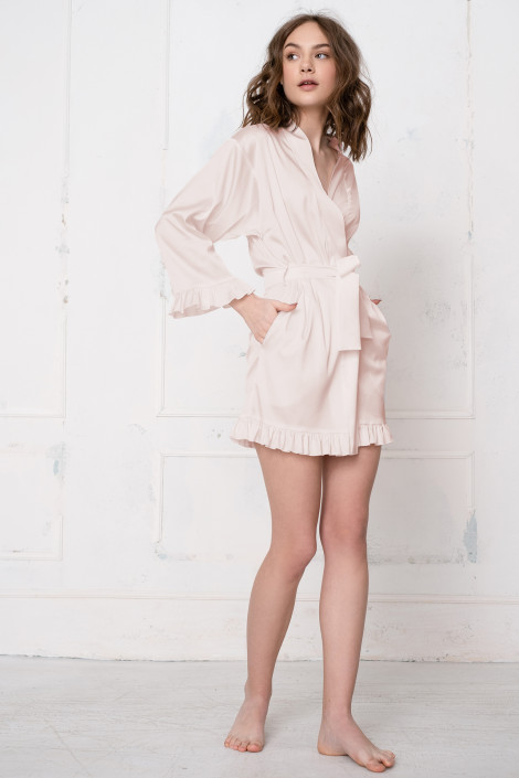 Robe de chambre Grace blush