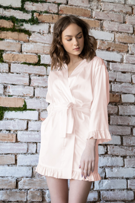 Grace blush dressing gown