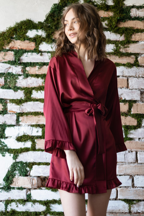 Dressing gown Grace burgundy