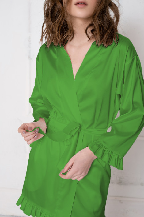 Grace forest green dressing gown