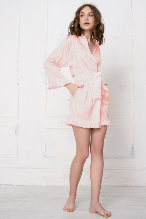 Grace pale dogwood dressing gown