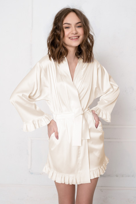 Grace pastel yellow dressing gown