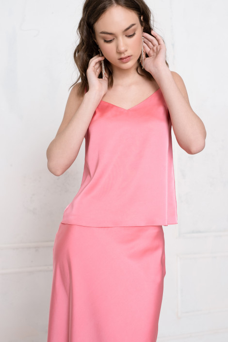 Top Kara silk pink