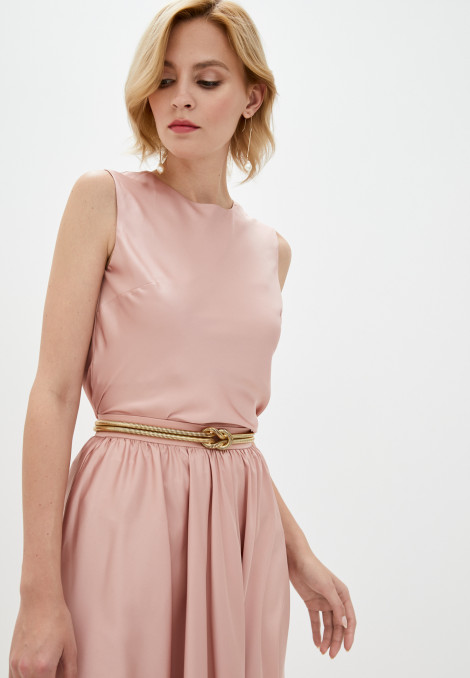 Top Lilia silk rose gold