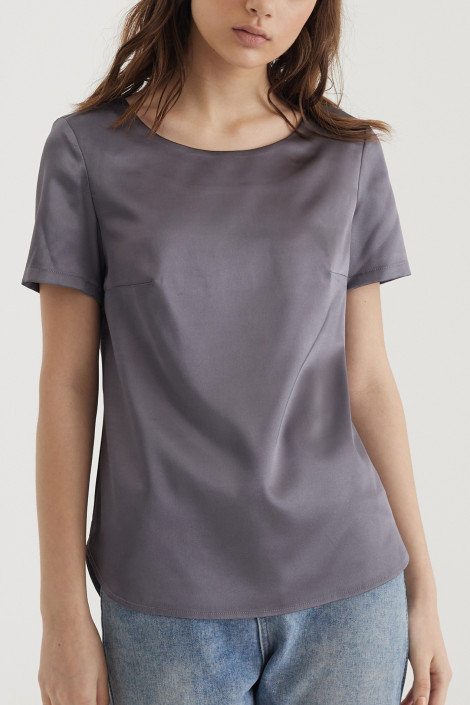 Top Mara silk cool gray