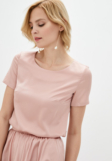 Top Mara silk rose gold