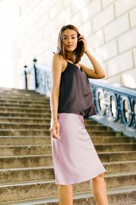 Skirt Carrie Gray Lilac